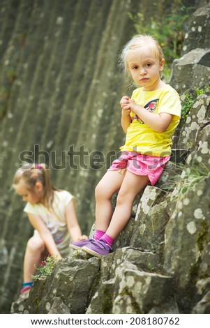 Young girls alpinist