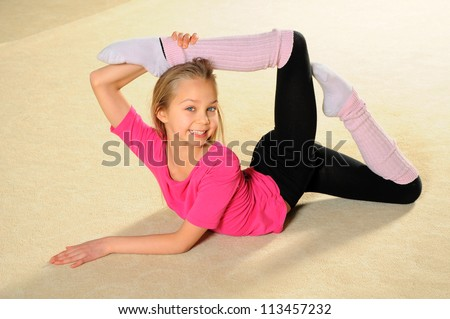 young gymnast - stock photo