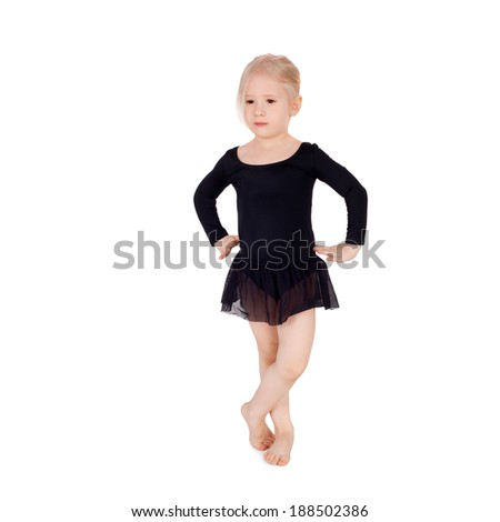 young gymnast doing the gymnastic exercises
