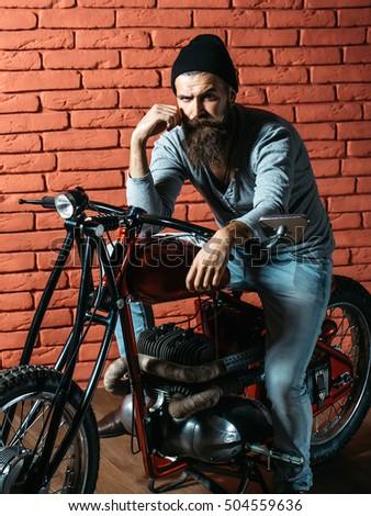 Biker Man Stock Images Royalty Free Images Amp Vectors