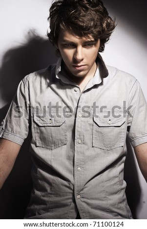 Young handsome man - stock photo