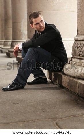 young handsome student - stock photo