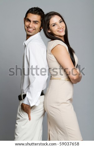 Young happy ethnic couple - stock photo