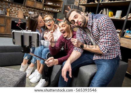 amusing nice living room stock photography image 18909472   Three Women Taking Selfie While Shopping Stock Photo ...