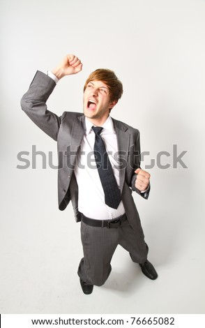 young happy manager - stock photo