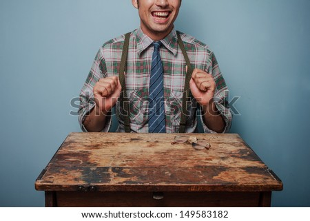 Young hipster man - stock photo