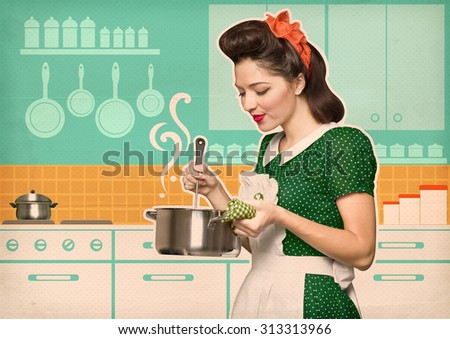 Retro Housewife Stock Photos Images Pictures