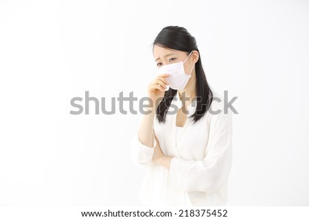young ill girl - stock photo