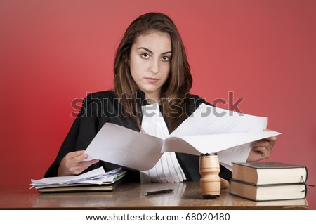 young law school student - stock photo