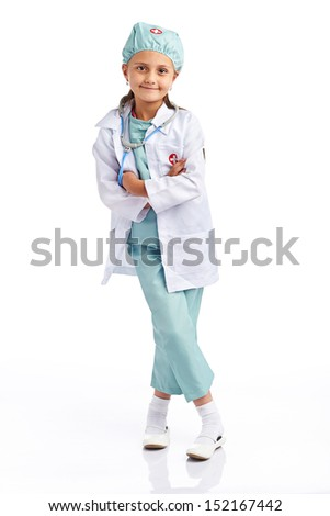 Young little doctor - stock photo