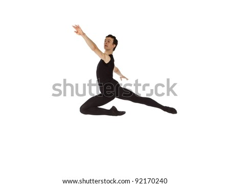 young male dancer leaping