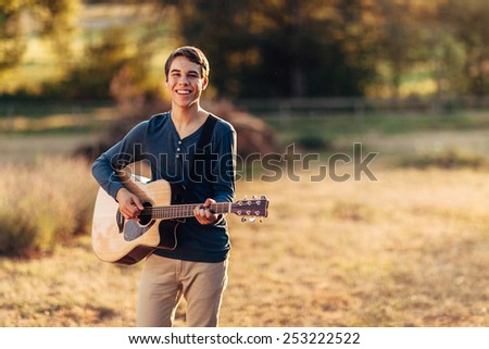 Young Male Outside portraits - stock photo