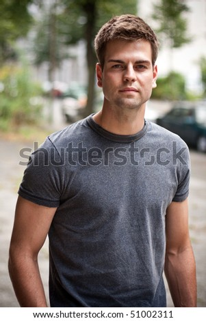 young male portrait - stock photo