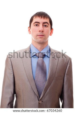 young man in a suite and tie - stock photo