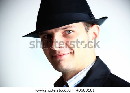 Young man in hat