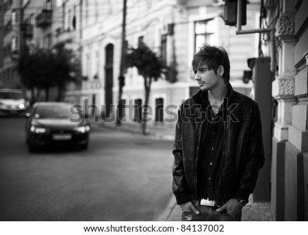 young man. outdoor portrait