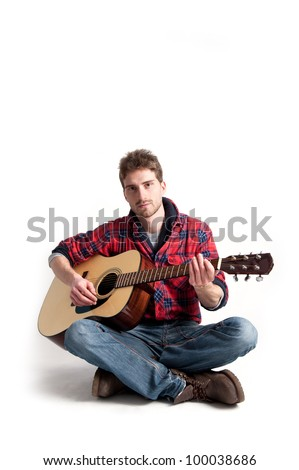 Guitar Man Stock Images Royalty Free Images Amp Vectors