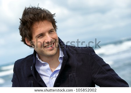 Young Man Portrait ,Italy - stock photo