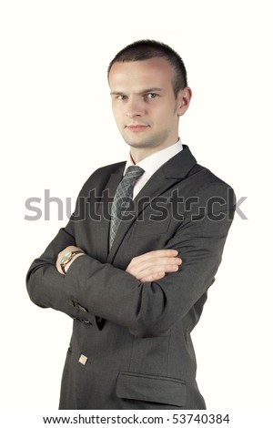 Young man posing on a white background - stock photo