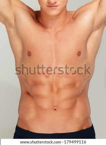 Young man's muscular torso
