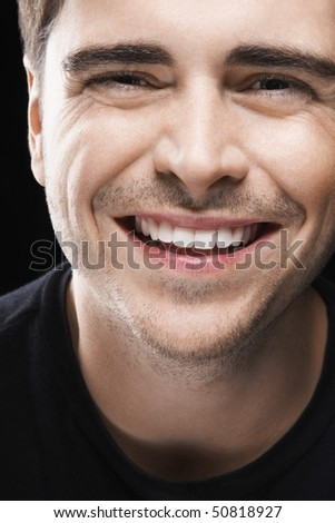 Young Man, smiling - stock photo