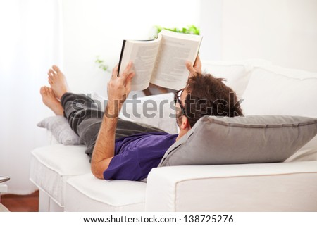 man relaxing stock images royalty free images vectors. Black Bedroom Furniture Sets. Home Design Ideas