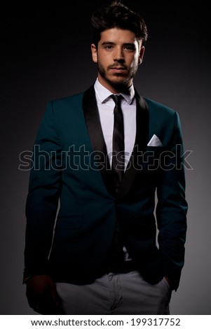 young man style - stock photo