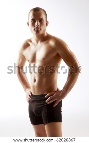 Young man trained - stock photo