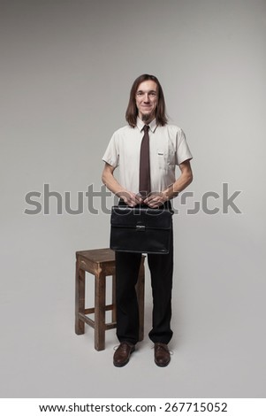 Blonde Man Sitting On Old Chair Stock Photo 27180520 - Shutterstock