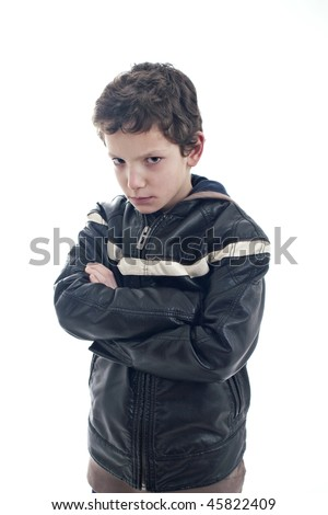 Young man with a sad expression - stock photo