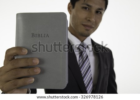 young  man  with  Holy Bible
