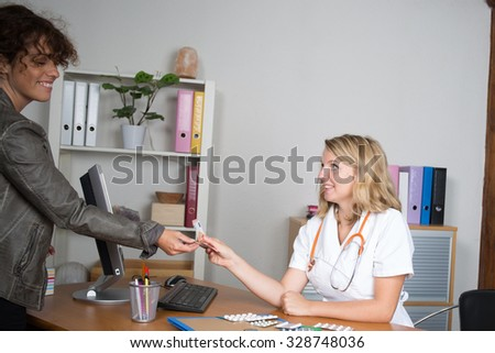 Young Medical doctor woman in the office