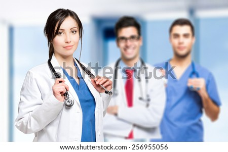 Young medical team - stock photo