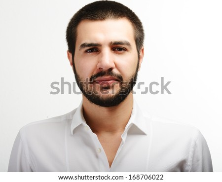 Young Middle eastern young attractive male model posing - stock photo