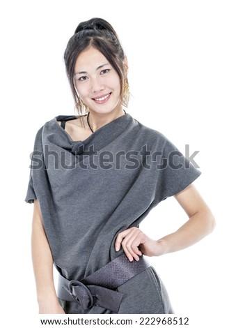 young model posing at camera - stock photo