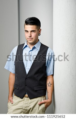 young modern business man with piercings