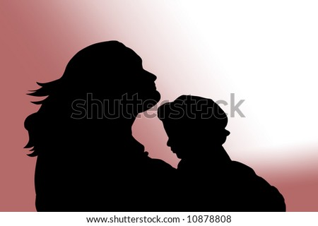 Young mother and her little baby - stock photo