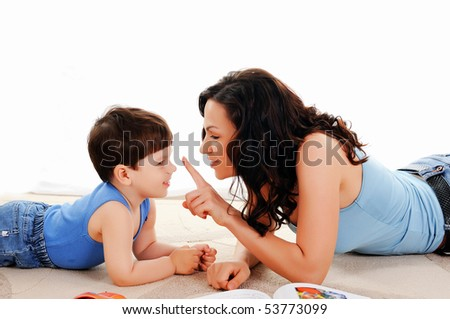 young mother and her son spend time together