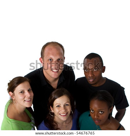 Young multiracial group - stock photo
