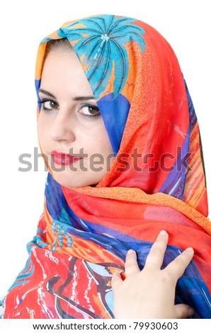 Young Muslim woman portrait - stock photo