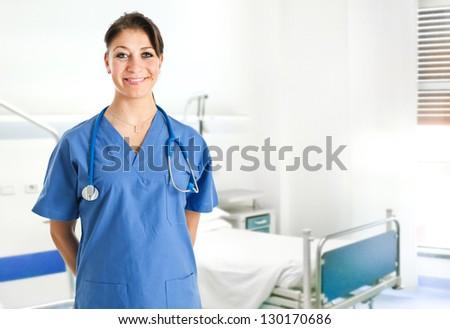 Young nurse portrait - stock photo
