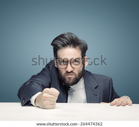 Young office worker having an idea - stock photo