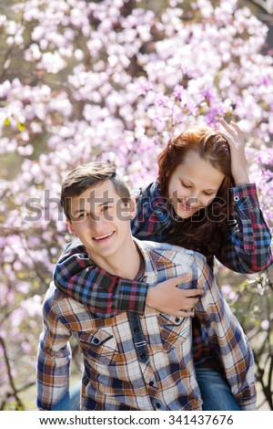young people are happy together - stock photo