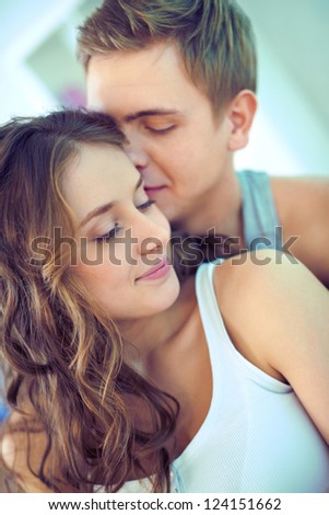 Young people being in a relationship spending time together - stock photo
