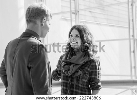 Young people conversation - stock photo