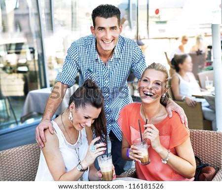 Young people having fun together - stock photo