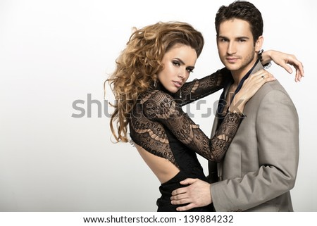 Young people posing - stock photo