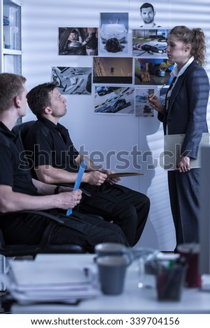Young people working for private detective agency - stock photo