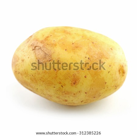 Young potato isolated on white - stock photo