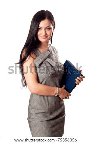 Young pretty business lady - stock photo